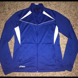Asics zip jacket sz Large, so comfy with pockets